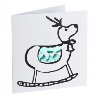 Green mirror card reindeer